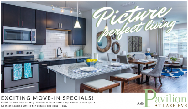 Pavilion at Lake Eve | Exciting Move-In Specials Flyer